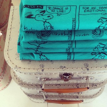 Instagram Bonton // T-shirt et valises Bonton + Snoopy